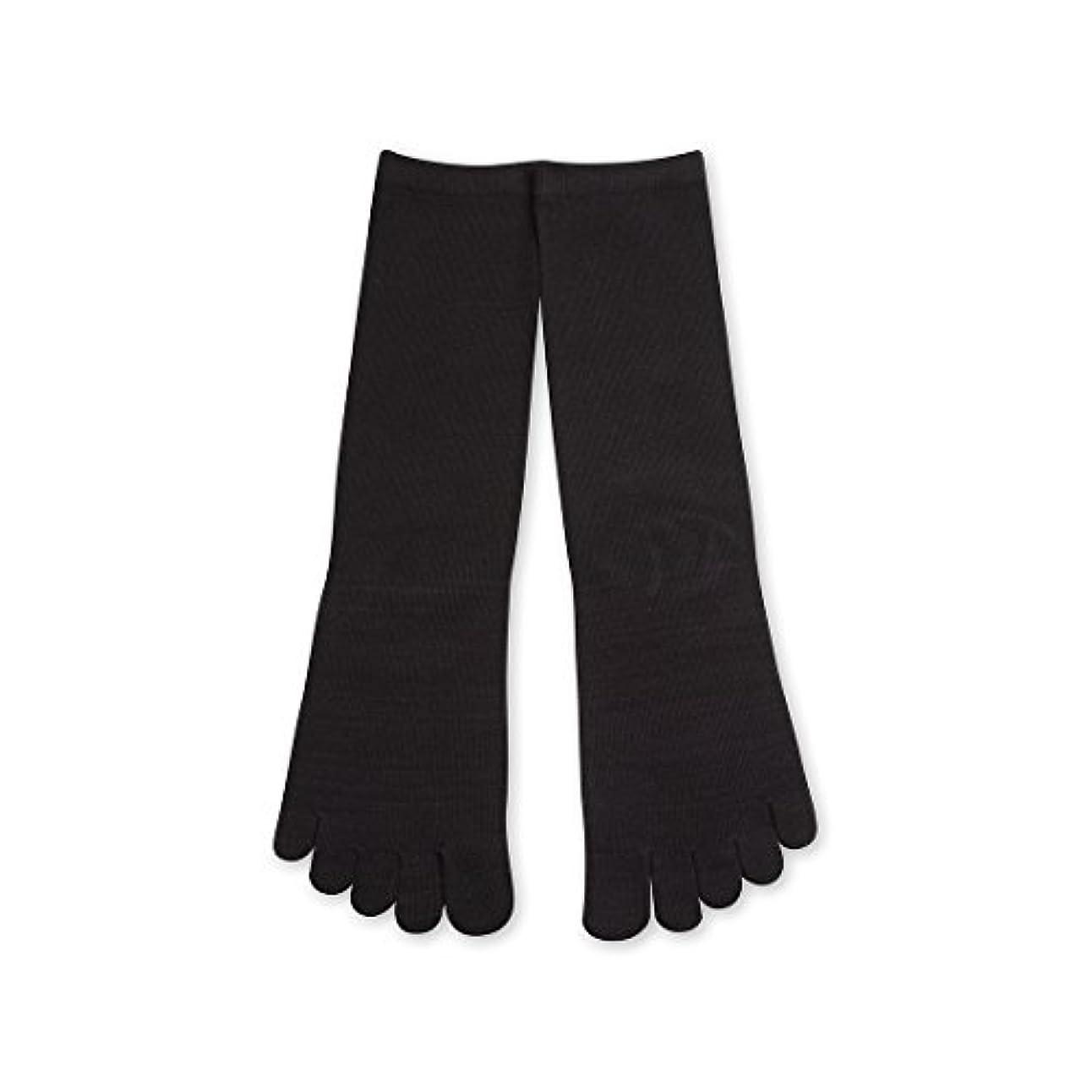 バスルーム予知起こりやすいDeol(デオル) 5本指 ソックス 男性用 靴下 25~27cm 黒