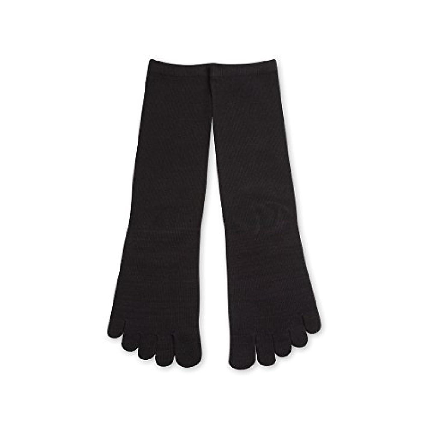不屈徒歩で壊すDeol(デオル) 5本指 ソックス 男性用 靴下 25~27cm 黒