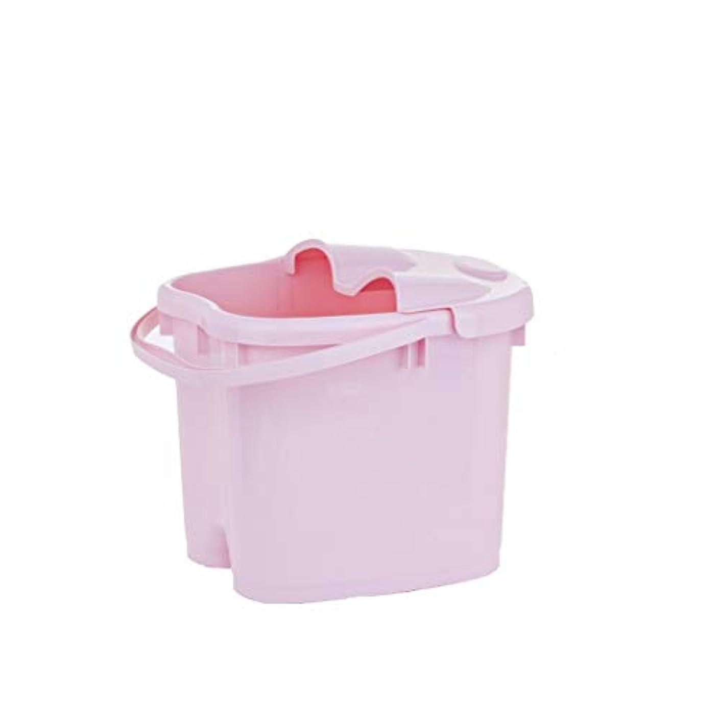 きゅうり飛び込む配分BB- ?AMT携帯用高まりのマッサージの浴槽のふたの熱保存のフィートの洗面器の世帯が付いている大人のフットバスのバケツ 0405 (色 : ピンク, サイズ さいず : 30.5cm high)