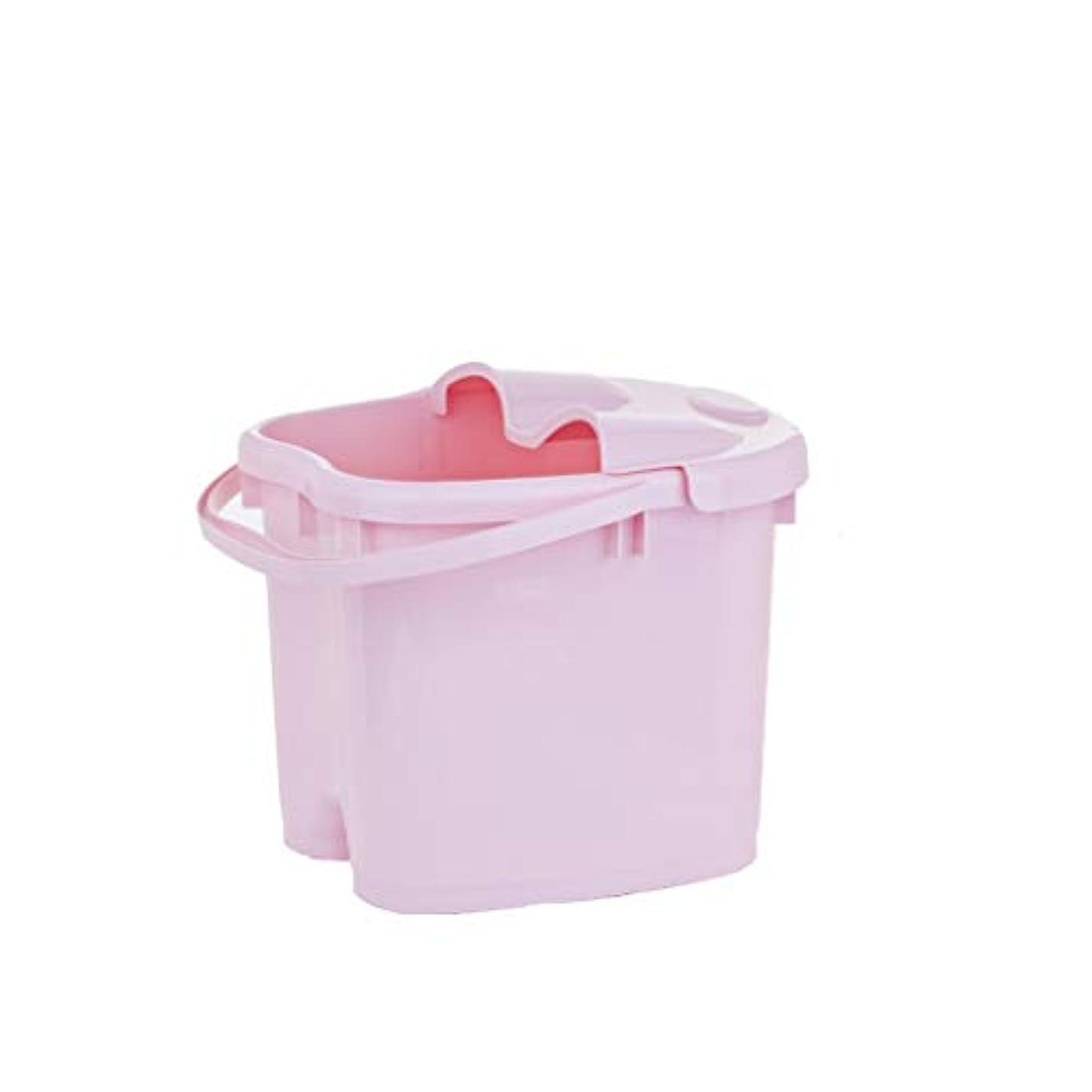 ライバル検出器単独でBB- ?AMT携帯用高まりのマッサージの浴槽のふたの熱保存のフィートの洗面器の世帯が付いている大人のフットバスのバケツ 0405 (色 : ピンク, サイズ さいず : 30.5cm high)
