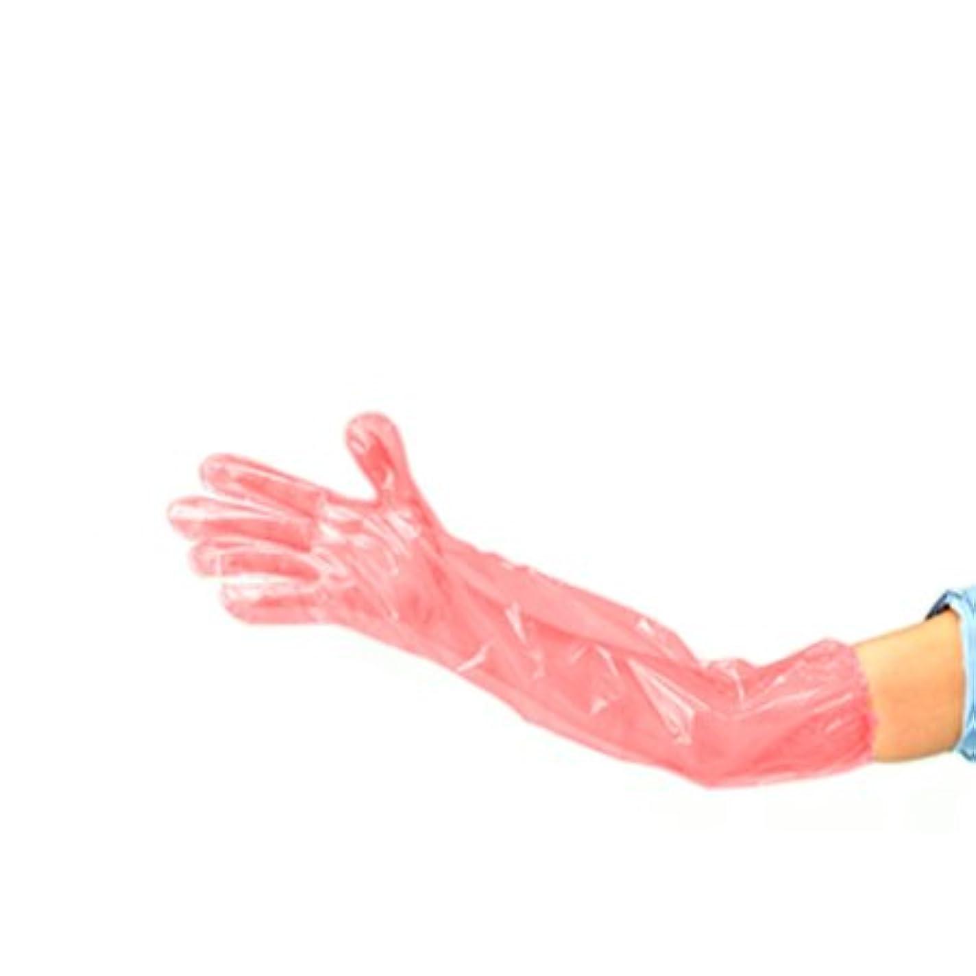 サンドイッチ雪主張するロングPE手袋 LPE 2000枚入