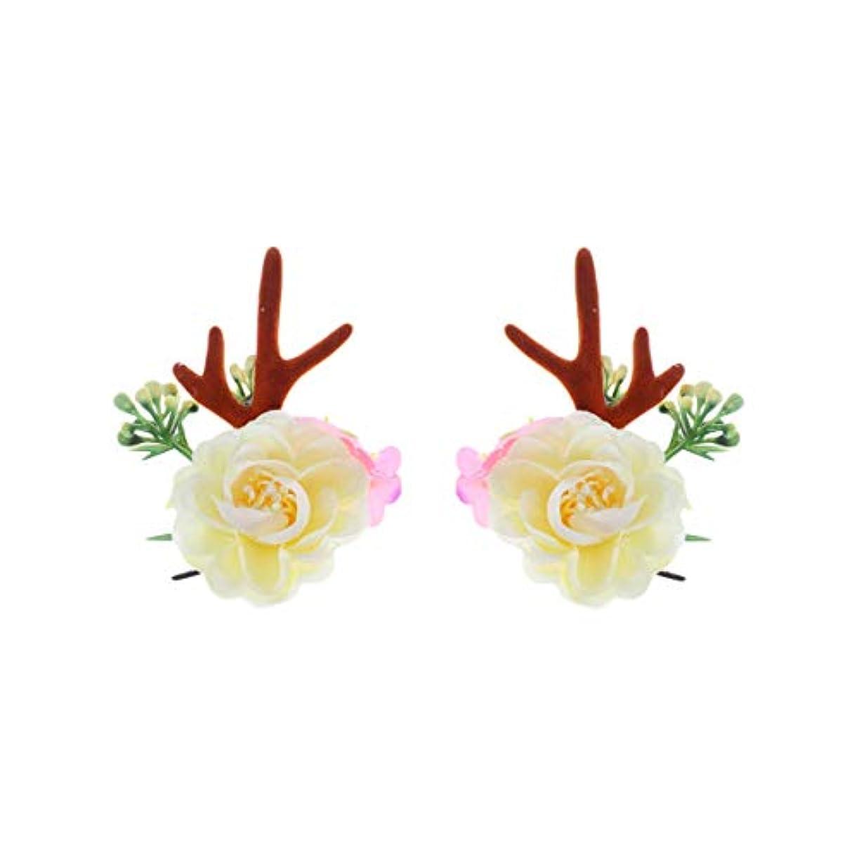 韓国語好奇心ターゲットLurrose クリスマスヘアクリップアントラーズアントラーズヘアピンかわいいヘアアクセサリー女の子日常着パーティーデコレーション