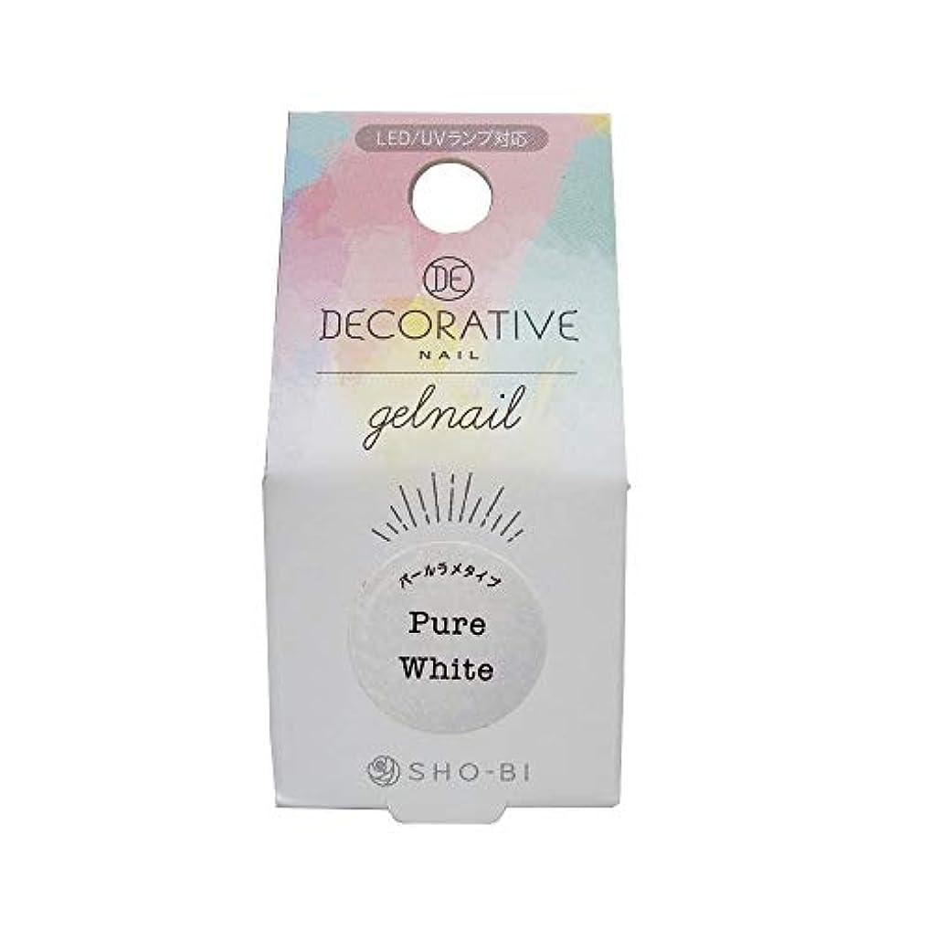 有彩色の受取人鋼DECORATIVE NAIL デコラティブネイル ジェルネイル カラージェル ピュアホワイト(パールラメタイプ) TN81174