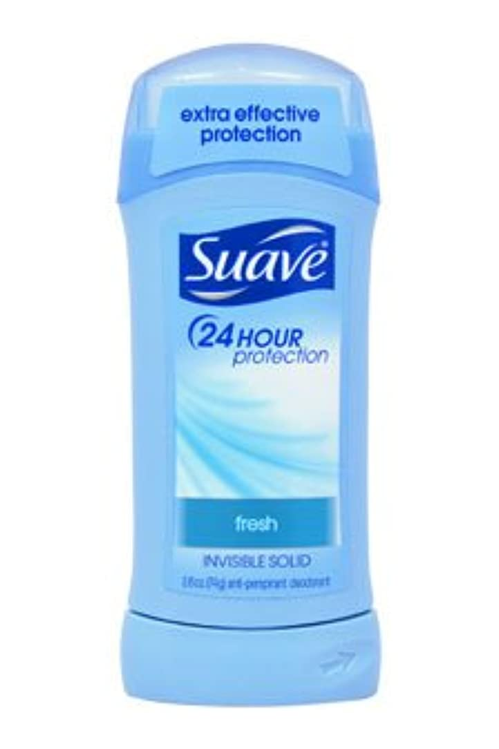 休暇ドック実質的Suave 24 Hour Protection Fresh Invisible Solid Anti-Perspirant 73g (並行輸入品)