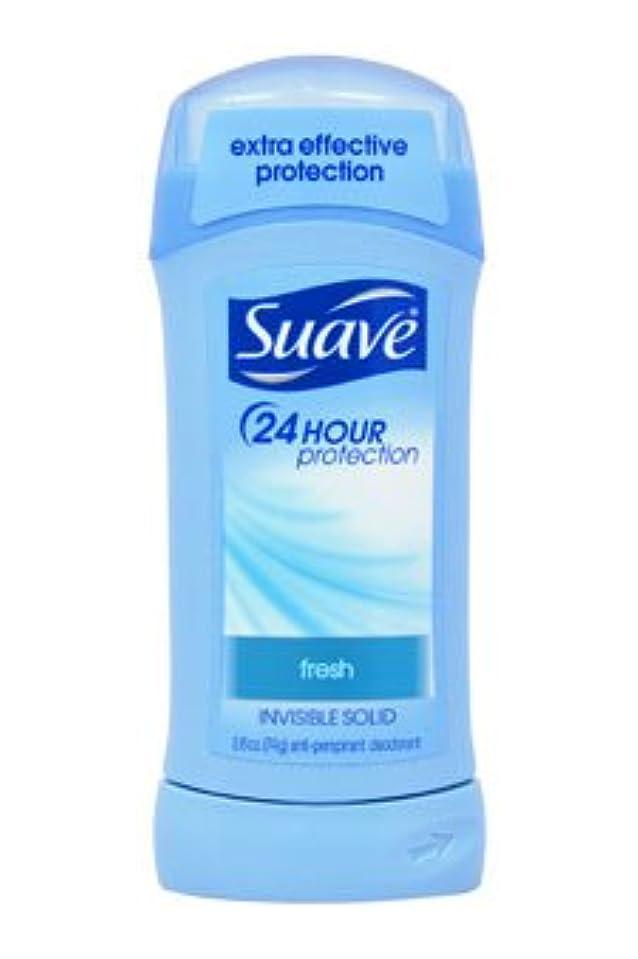 見分ける地質学ほとんどの場合Suave 24 Hour Protection Fresh Invisible Solid Anti-Perspirant 73g (並行輸入品)