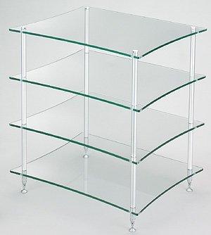 クアドラスパイア 透明ガラス棚板・シルバーポールQuadraspire Q4DS/GL