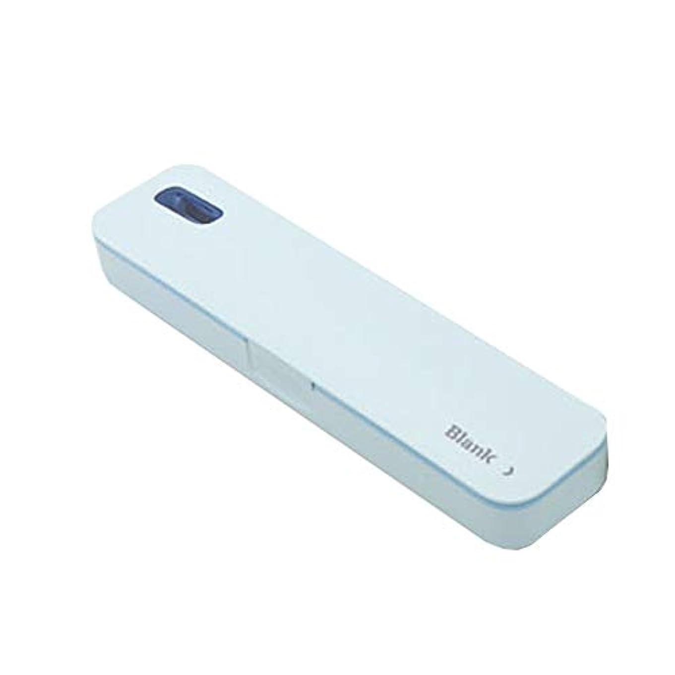 食用一緒規定iriver TBS-A500ポータブル紫外線歯ブラシ消毒剤 (Blue)