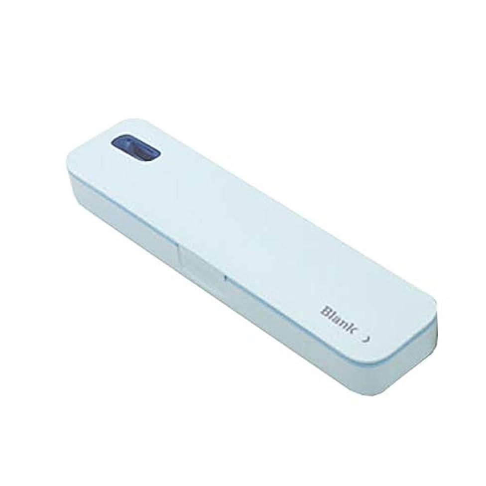 迷彩インフルエンザワゴンiriver TBS-A500ポータブル紫外線歯ブラシ消毒剤 (Blue)