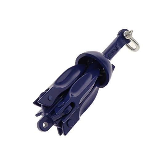 ボートアンカー カヤック 折りたたみ式 アルミ合金 カヤック 携帯用 青