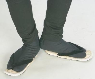 【特選足袋】黒 晒裏(4枚コハゼ)日本製 綾織 サイズ_25.5㎝