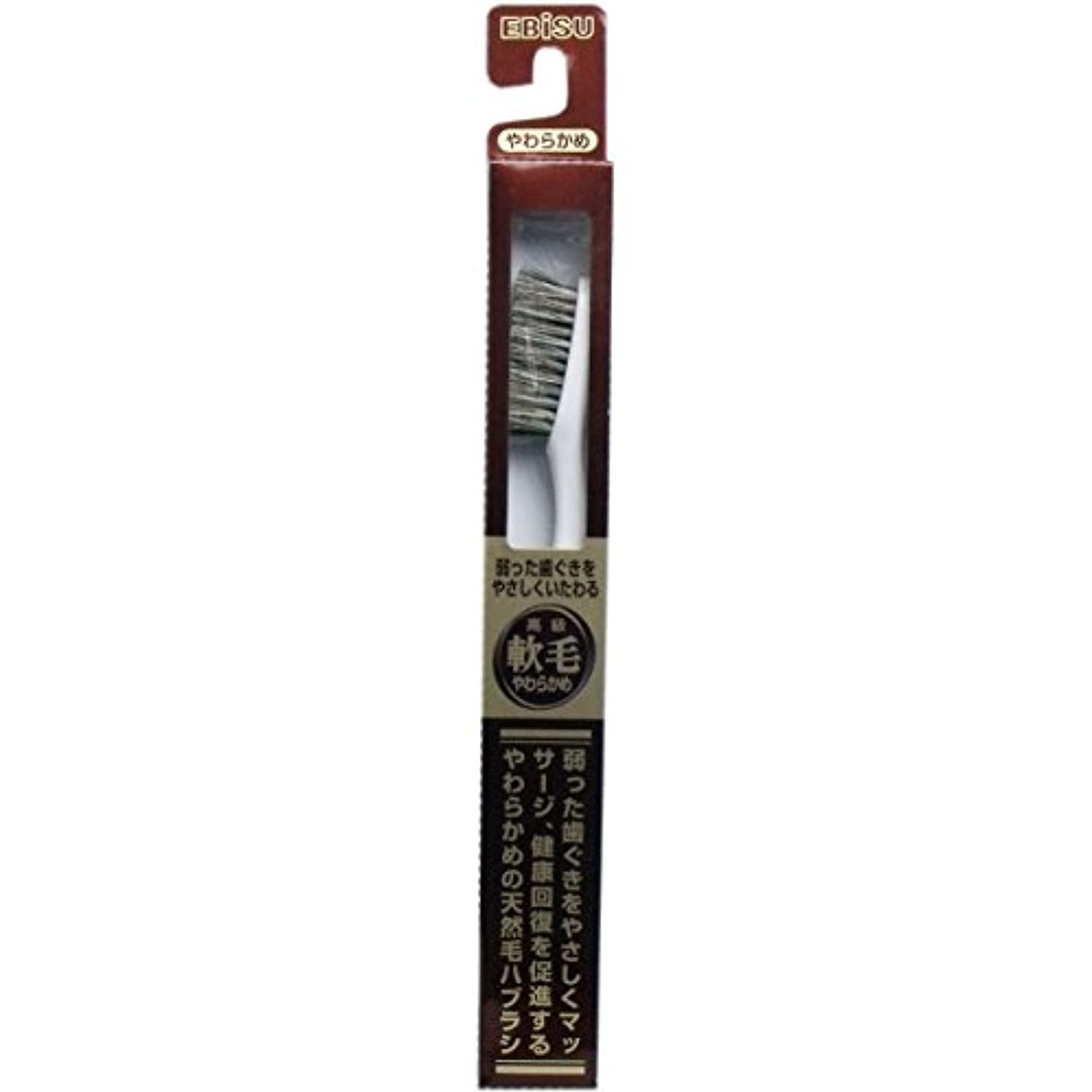 防止素晴らしき句【エビス】天然毛軟毛歯ブラシ 500 やわらかめ 1本 ×3個セット