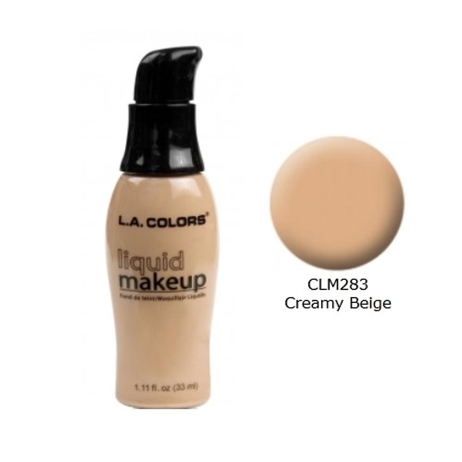 苦悩縮れたメディック(6 Pack) LA COLORS Liquid Makeup - Creamy Beige (並行輸入品)
