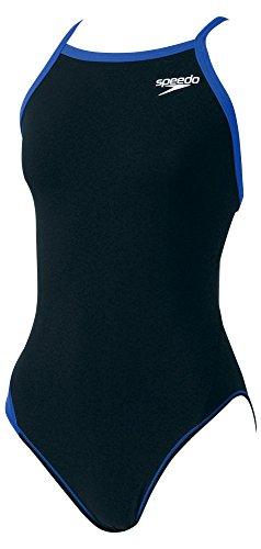 Speedo(スピード)レディース競泳水着練習用ワンピーストレインカットスーツSD54T01ブラック×ロイヤルブルーS