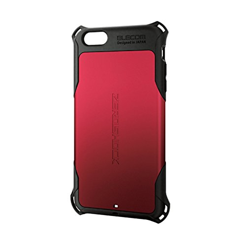 ELECOM iPhone6S Plus iPhone6 Plus ZEROSHOCKケース レッド PM-A15LZERORD