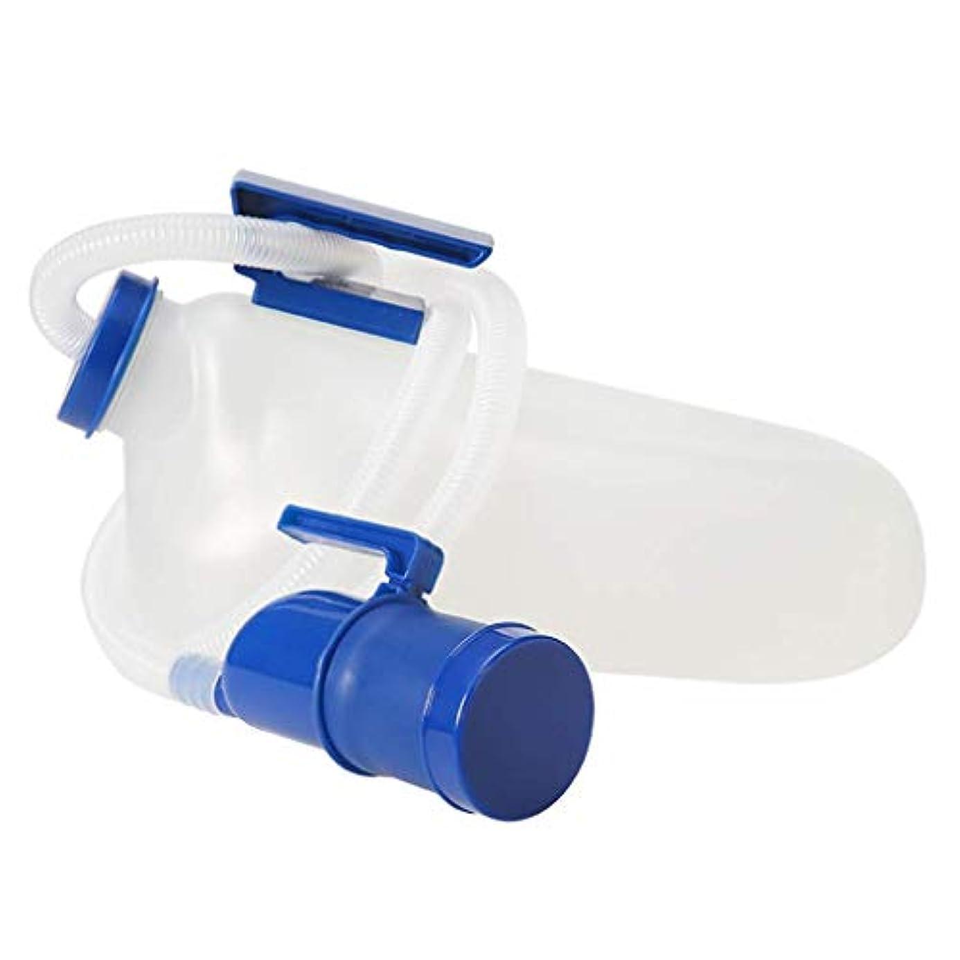 返還検体あなたが良くなります便器男性用の再利用可能な尿管男性用のふた付きの長い尿管ロングポータブル肥厚男性用の尿管2000ml、病院のキャンピングカートラベルトイレで使用