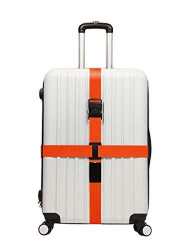 10aca1ac37 ペパーミント スーツケースベルト 十字型 ロック搭載ベルト 橙色 オレンジ色 荷物梱包バンド ダイヤル式 3桁 長さ調節可能 海外旅行 出張用 ベルト  丈夫な素材 簡単 ...
