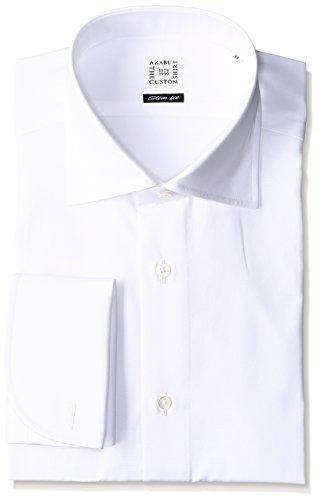 (アザブ ザ カスタム シャツ)AZABU THE CUSTOM SHIRT ブロードクロス ワイドカラー Wカフス スリムフィット 長袖シャツ
