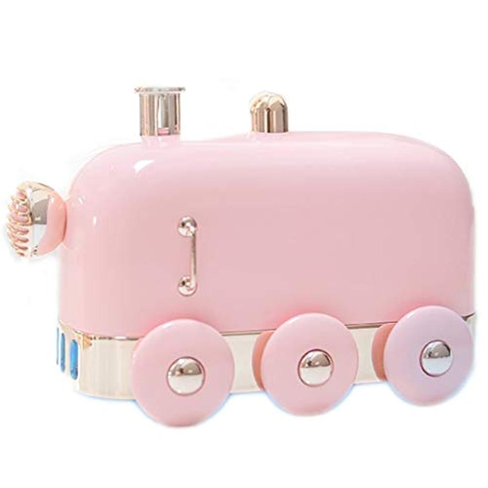 レンズ集める誠実さアロマセラピーエッセンシャルオイルディフューザー、アロマディフューザークールミスト加湿器ウォーターレスオートシャットオフホームオフィス用ヨガ (Color : Pink)
