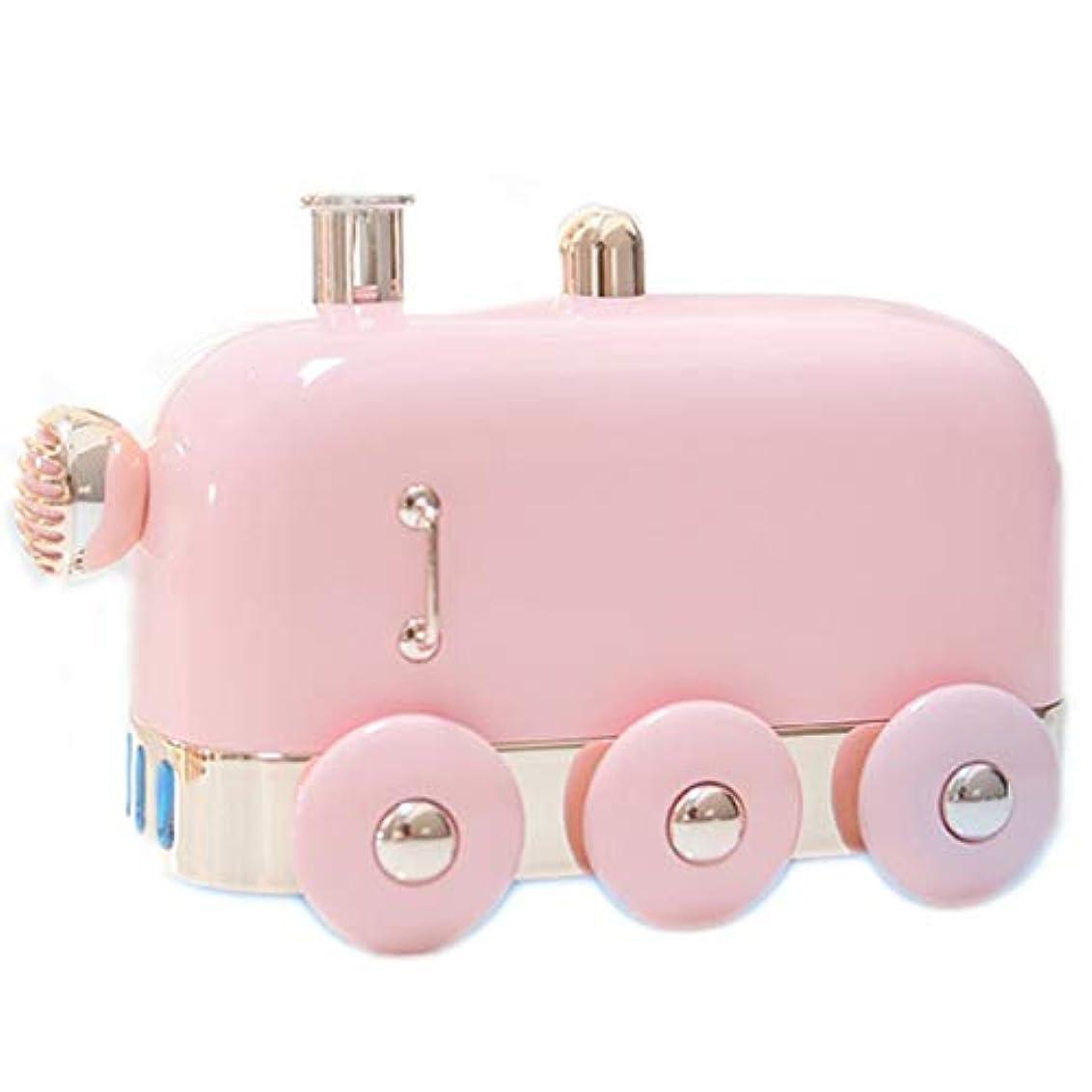 ロケーション裁量口述アロマセラピーエッセンシャルオイルディフューザー、アロマディフューザークールミスト加湿器ウォーターレスオートシャットオフホームオフィス用ヨガ (Color : Pink)