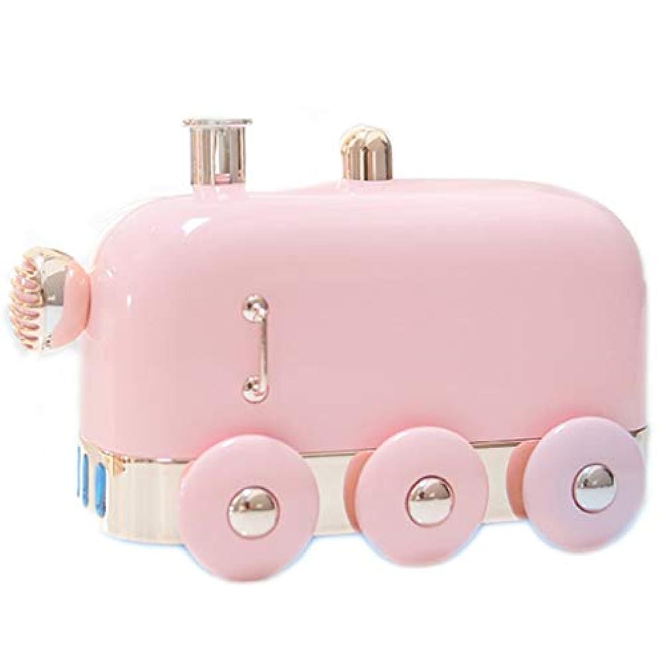 鋸歯状ハリウッドショッキングアロマセラピーエッセンシャルオイルディフューザー、アロマディフューザークールミスト加湿器ウォーターレスオートシャットオフホームオフィス用ヨガ (Color : Pink)