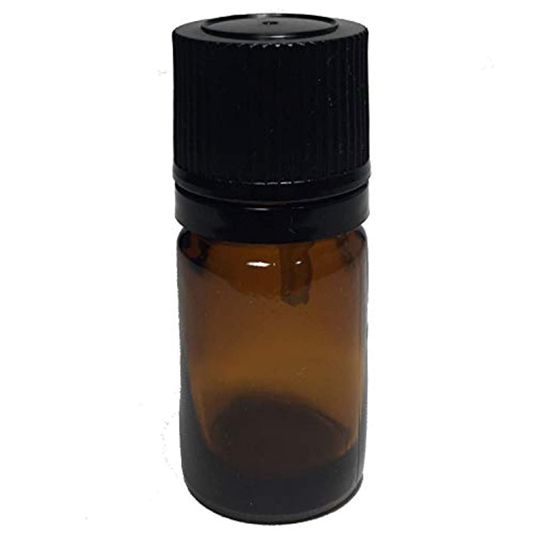 類似性保安火山学者エッセンシャルオイル用茶色遮光瓶 ドロッパー付き(黒キャップ) 5ml ガラスビン 10本セット