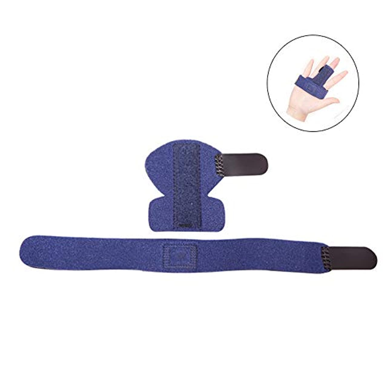 指の痛みの軽減、指の関節の固定、指の骨折のための指サポートブレーススプリント調整可能なプロテクター