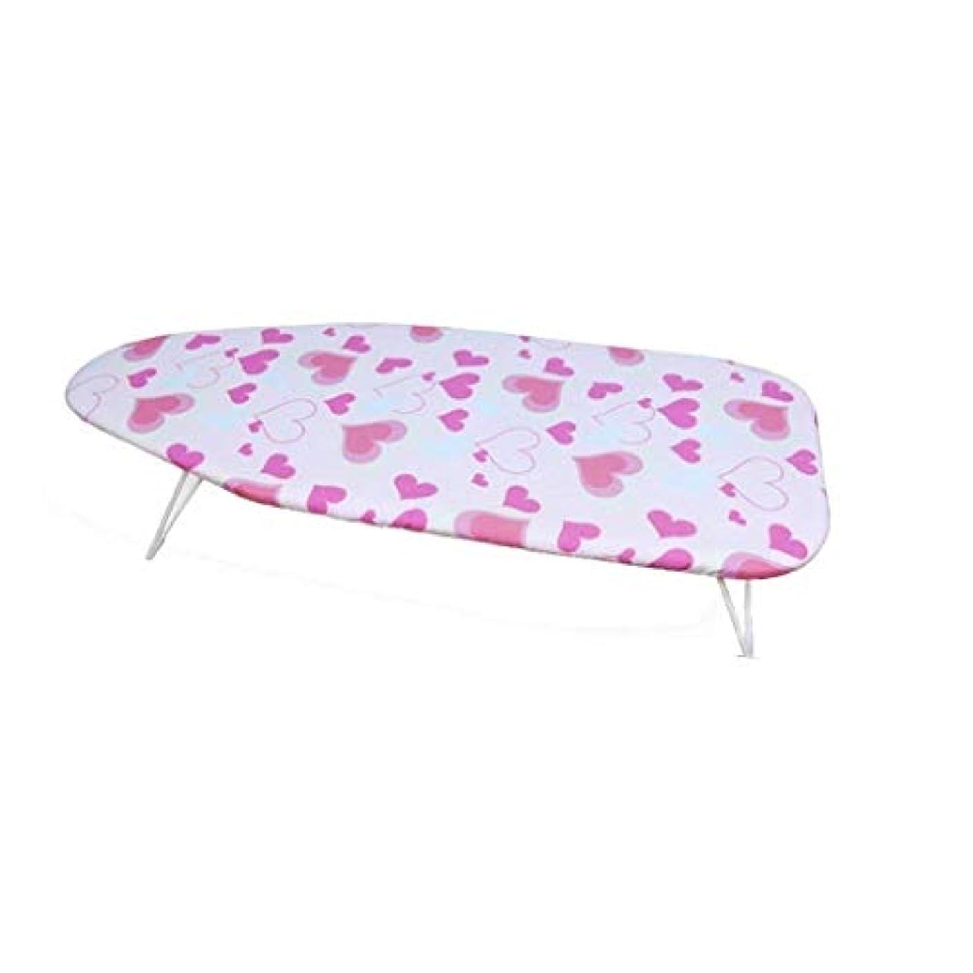 勝利熱望する短くするアイロン台、折りたたみが簡単な屋内寝室のアイロン台、スチール、小さな蜂/ピンクの愛(色:A、サイズ:74 * 31 * 12CM)