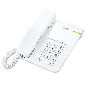 ALCATEL (アルカテル) T22 電話機 シンプル 北欧デザイン おしゃれ 受付用電話 オフィス用電話機 ビジネス 業務用電話機 家庭用電話機 ホワイト