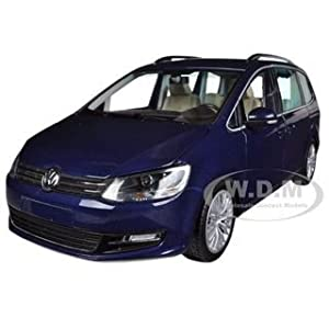 2010 Volkswagen Sharan Metallic Blue Limited to 1002pc 1/18 Diecast Model Car by Minichamps サイズ : 1/18 [並行輸入品]