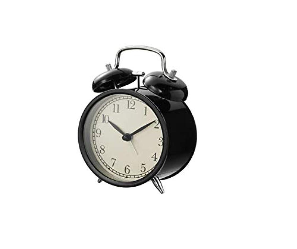 路面電車神経困惑したQiyuezhuangshi001 目覚まし時計、家庭用目覚まし時計、かわいい漫画シンプルサイレントベッドサイドクロック、小学校の子供の目覚まし時計、黒の目覚まし時計、 材料の安全性 (Color : Black)