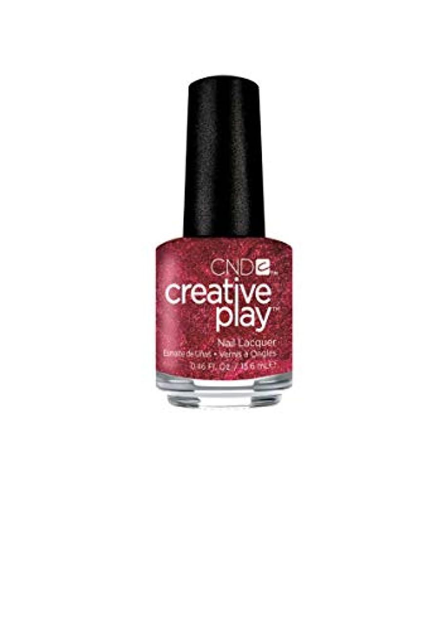 荒涼としたまろやかな収入CND Creative Play Lacquer - Crimson Like it Hot - 0.46oz / 13.6ml