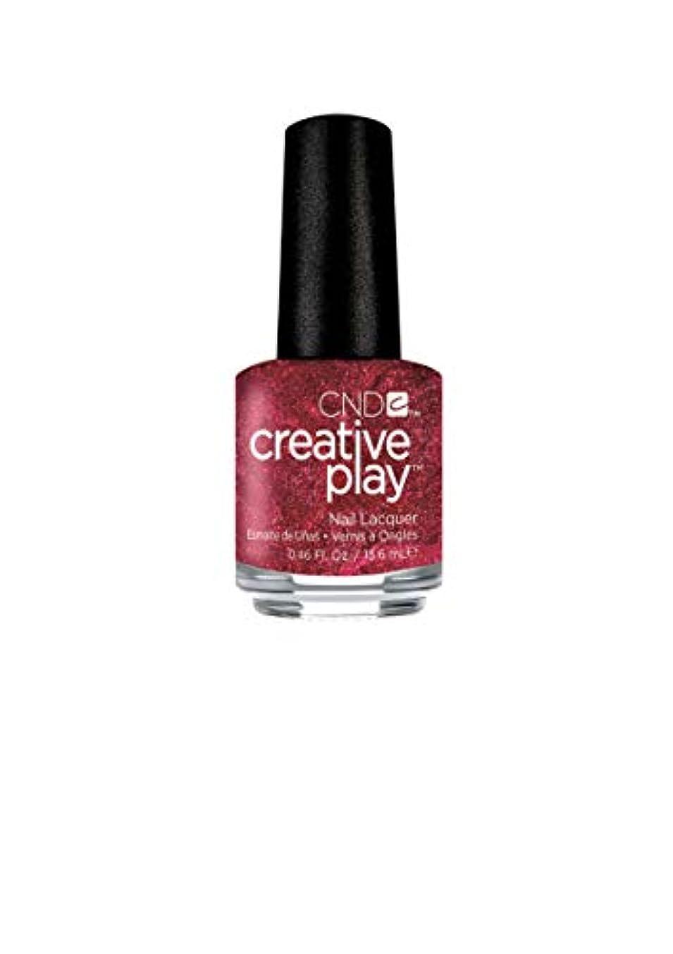 はげマイナスびっくりCND Creative Play Lacquer - Crimson Like it Hot - 0.46oz / 13.6ml