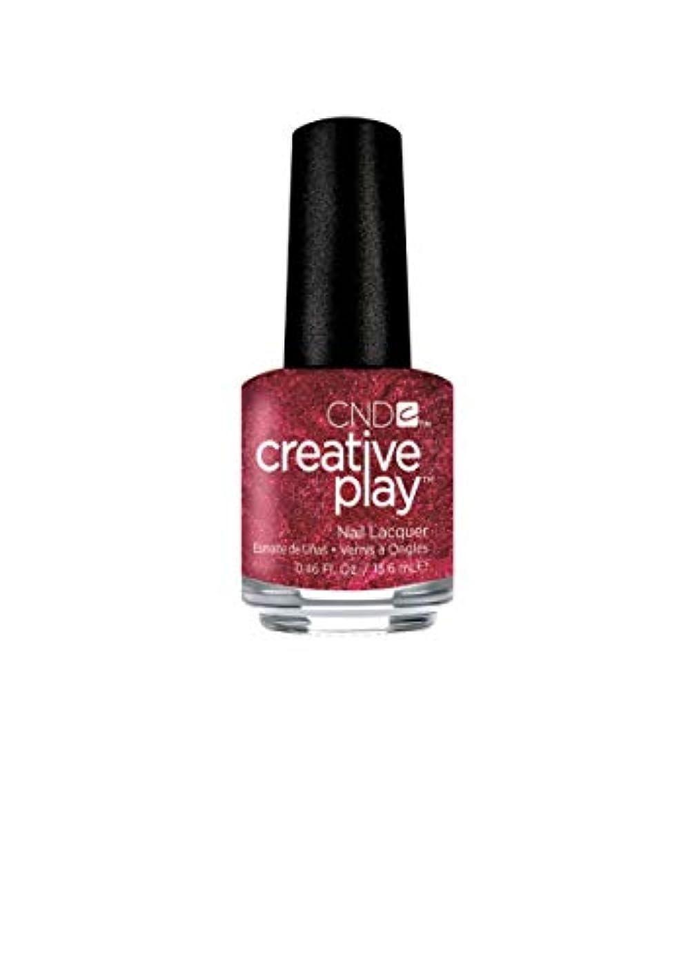 対称おめでとう原始的なCND Creative Play Lacquer - Crimson Like it Hot - 0.46oz / 13.6ml