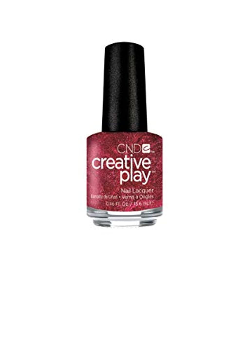 否定するうんざり不良CND Creative Play Lacquer - Crimson Like it Hot - 0.46oz / 13.6ml