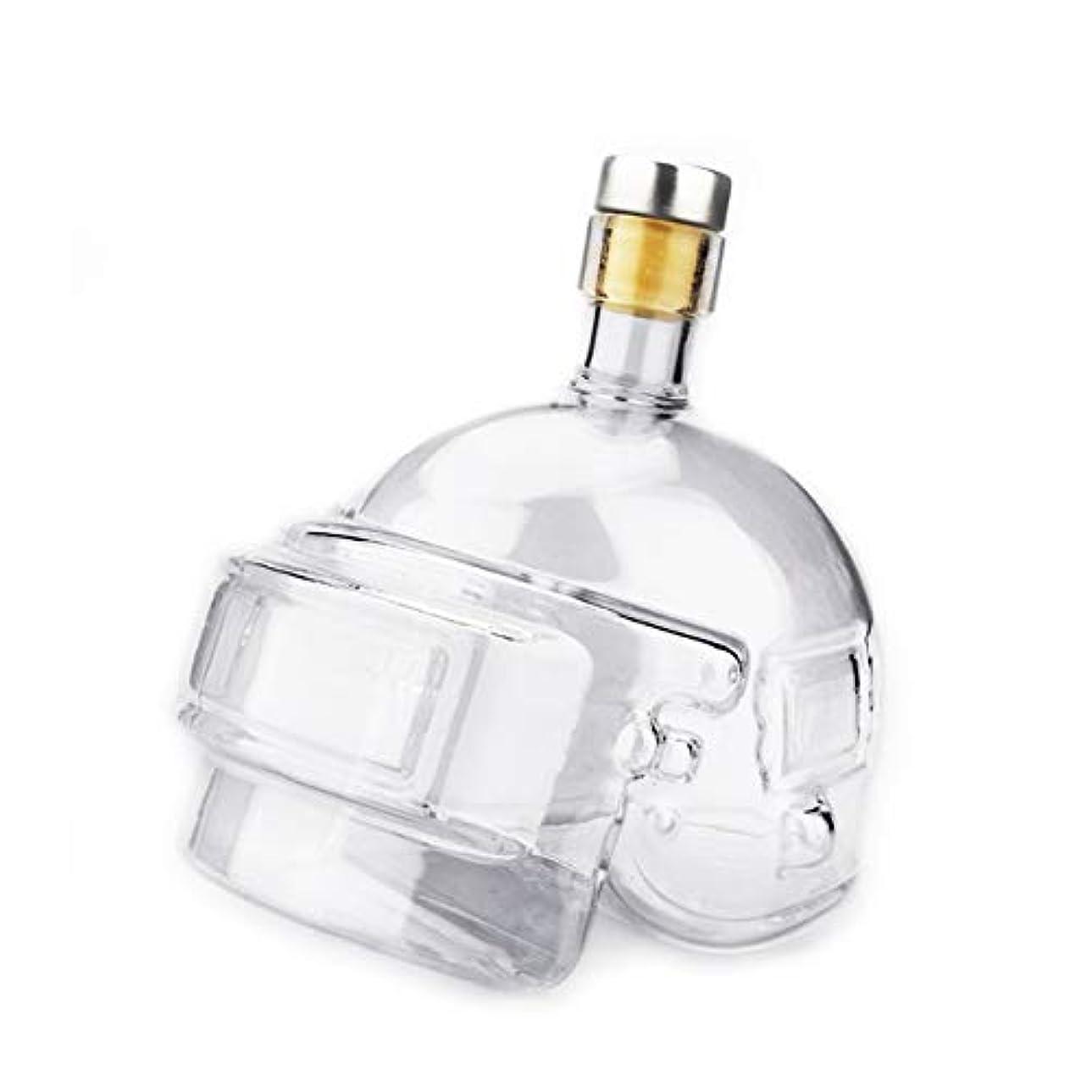 誓うランダム薄めるSaikogoods ノベルティデザイン ワインポットヘルメット ウォッカウイスキーボトル グラスジャグ ホームバー ゲームおもちゃ デキャンタフラゴンを飲みます トランスペアレント