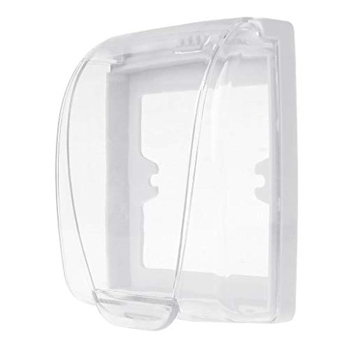 自慢銀容量Lamdooプラスチック壁防水カバーボックス壁ライトパネルソケットドアベルフリップキャップカバークリア浴室キッチンアクセサリー