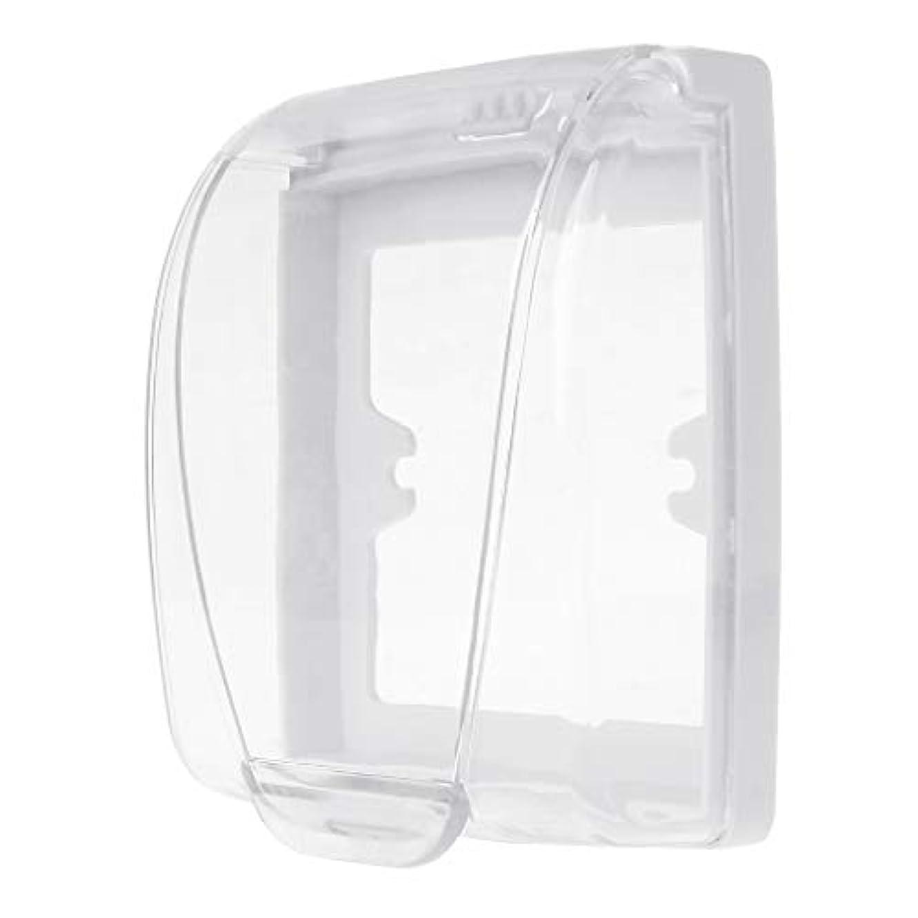 放課後支店無線Lamdooプラスチック壁防水カバーボックス壁ライトパネルソケットドアベルフリップキャップカバークリア浴室キッチンアクセサリー
