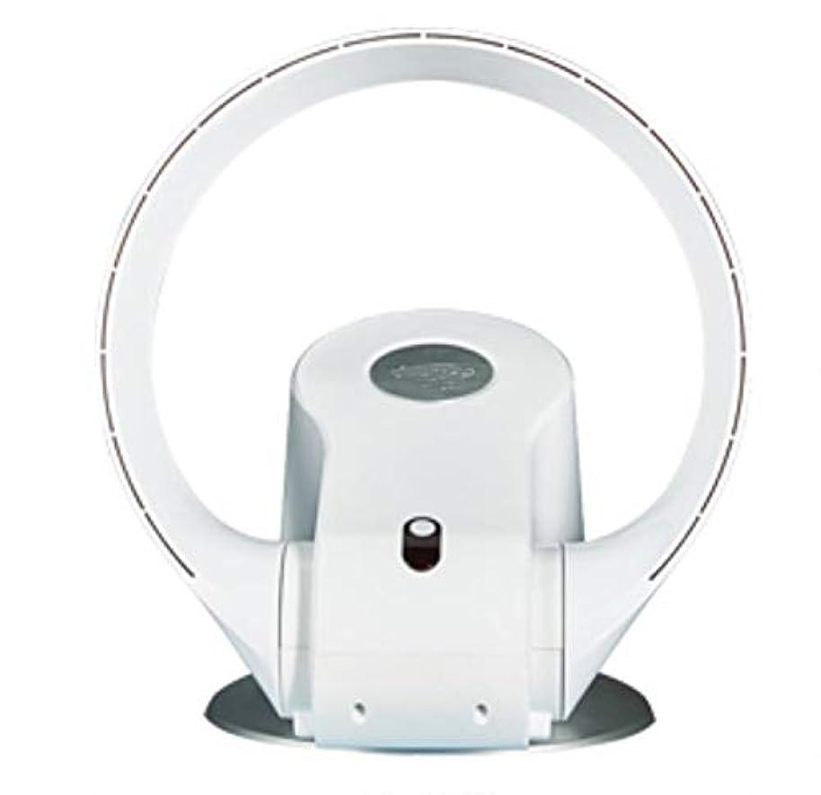 使用法伝染性知らせるリーフレス扇風機壁掛け式超静音デジタルリモコンファン(色:白)