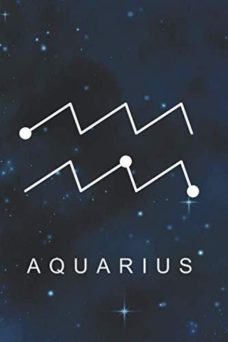 [画像:Aquarius: Zodiac Star Sign Notebook (6 x 9) Inspirational journal for Astrology Lovers, Constellation Notepad with your Horoscope and Star Map -110 lined pages, personalized gift idea]
