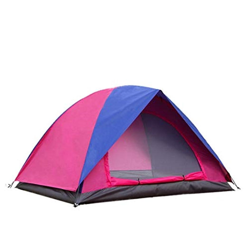 ポスターガチョウ肌MHKBD-JP 2人丈夫なテントダブルレインプロテクションバックパッキングテント/キャンプハイキングのために組み立てられた超軽量防水、日よけの蚊 キャンプテント (色 : ピンク, サイズ : 2P)