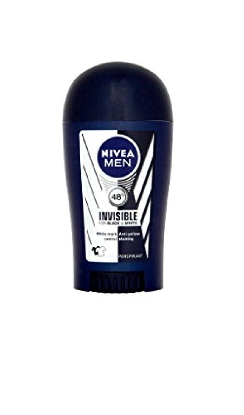 テレビ局空クリアNivea Men Invisible for Black & White 48h Anti-Perspirant Deodorant Power Stick (40ml) 黒と白の48時間制汗消臭パワースティック用ニベア...