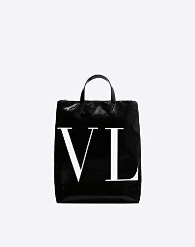 (ヴァレンティノ) VALENTINO MAXI VLTN CANVAS TOTE メンズキャンバストートパック (並行輸入品)