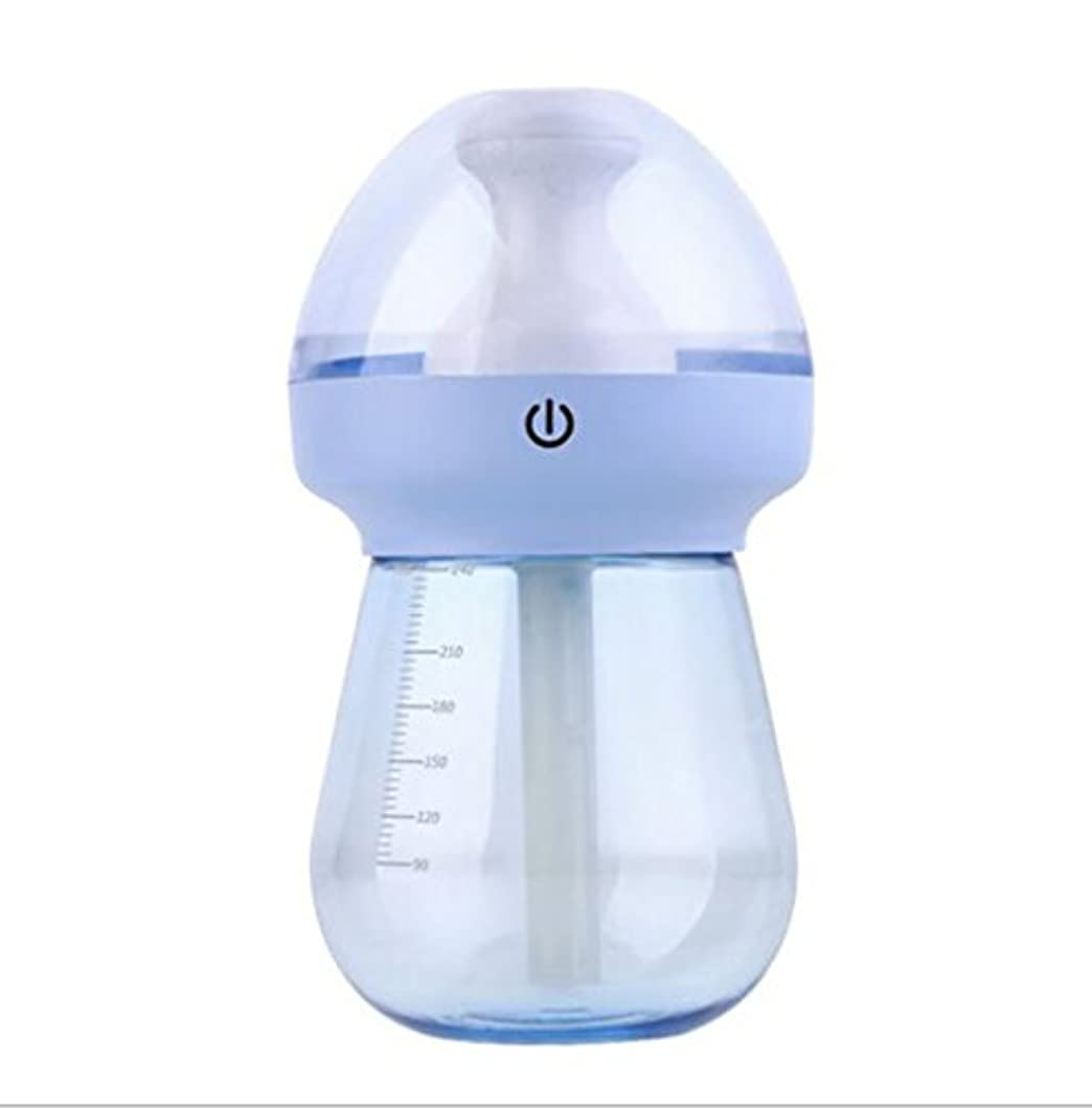 年次盲目消費する加湿器フィルター 加湿器蒸発型加湿器細菌クリーナーナイトライト機能タイマー設定オフィス、会社、ベビールーム、ホーム(15 * 8 * 8cm、青、緑、ピンク) 空気清浄機 ( Color : Blue )