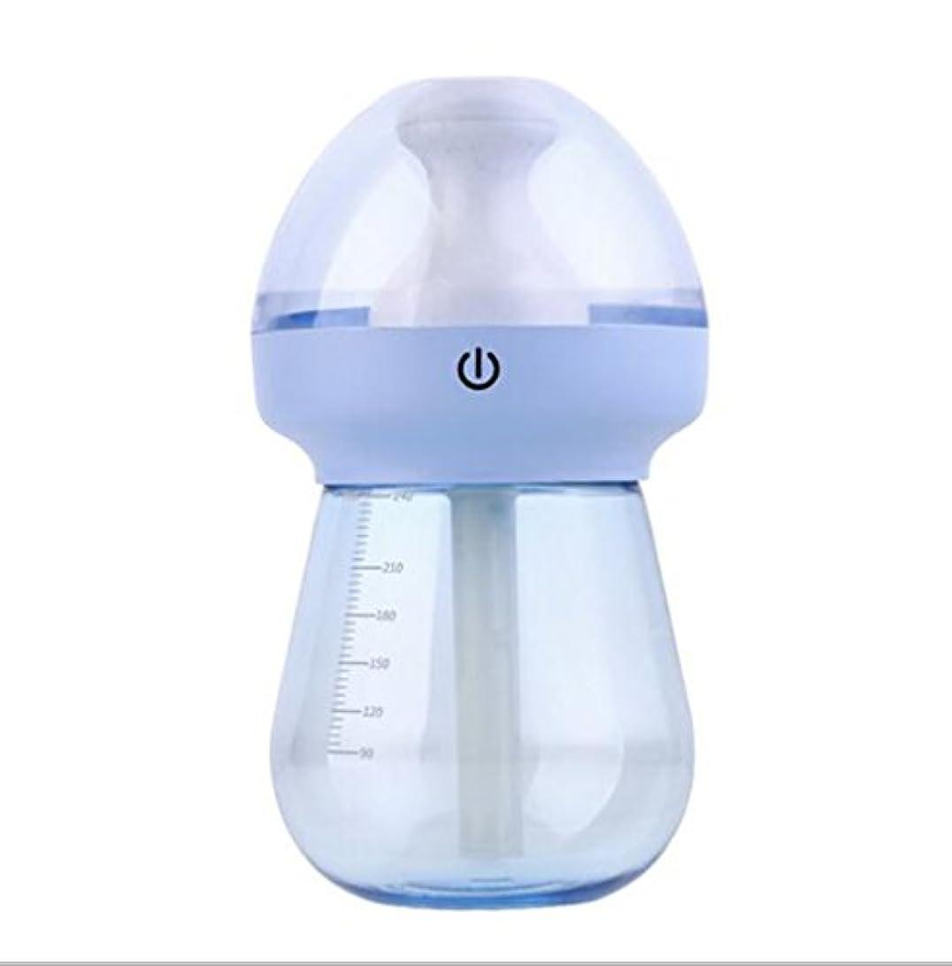 足パワー恥加湿器フィルター 加湿器蒸発型加湿器細菌クリーナーナイトライト機能タイマー設定オフィス、会社、ベビールーム、ホーム(15 * 8 * 8cm、青、緑、ピンク) 空気清浄機 ( Color : Blue )