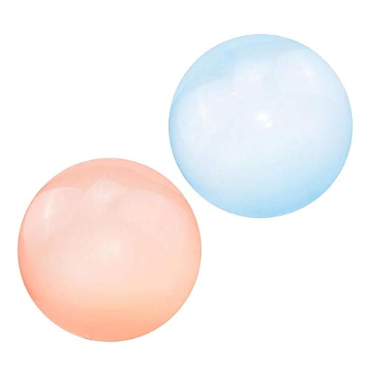所持泥沼港#N/A バブルボール 特大 高弾性 インフレー タブルボール おもちゃ ビーチボール 子供 パーティー風船 2個