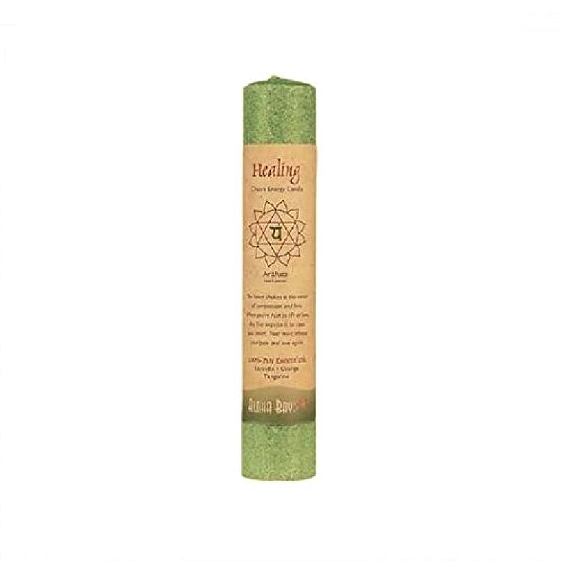 苦い密接に帝国Aloha Bay 743518 Aloha Bay Chakra Pillar Candle - Green - 8''