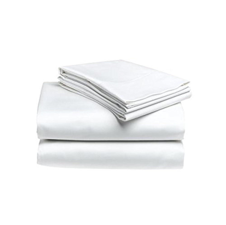 ホテル品質キングサイズフラットベッドシーツ ホワイト
