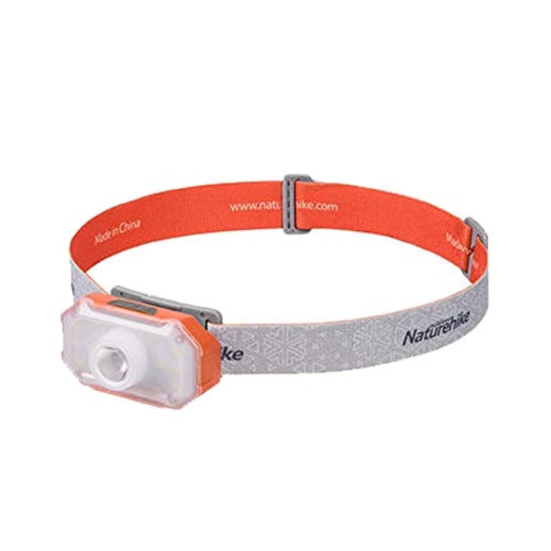 アリ減る当社アウトドアスポーツ 超明るい長距離ヘッドマウント超軽量釣りヘッドライトを充電する屋外グレアLedヘッドライト長いバッテリー寿命 (Color : Ice orange)