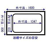 お風呂のふた   ノーリツ 風呂ふた 巻ふた 長さ1,440mm×幅715mm (取っ手部分含まない) 品番:FC1680K-GY/SB