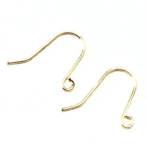 [해외]K18 피어싱 브래킷 K18YG 후크 귀걸이 1 쌍 18K 옐로우 골드 알레르기 귀걸이 부품 바늘 걸려 와이어 귀걸이/K18 pierce metal fittings K18YG hook earrings 1 pair 18 gold yellow gold Allergy compatible piercing parts tie sticks hikakake wi...